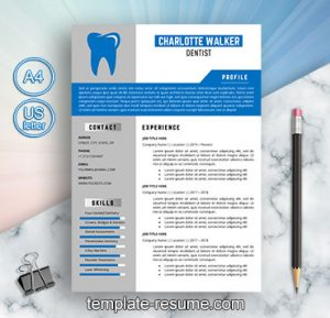 dental technician cv template