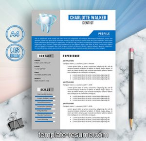 senior dentist cv template