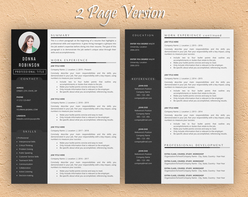 acting resume template