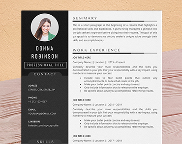 acting cv template