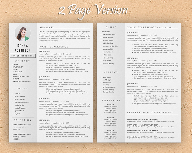 product manager resume template