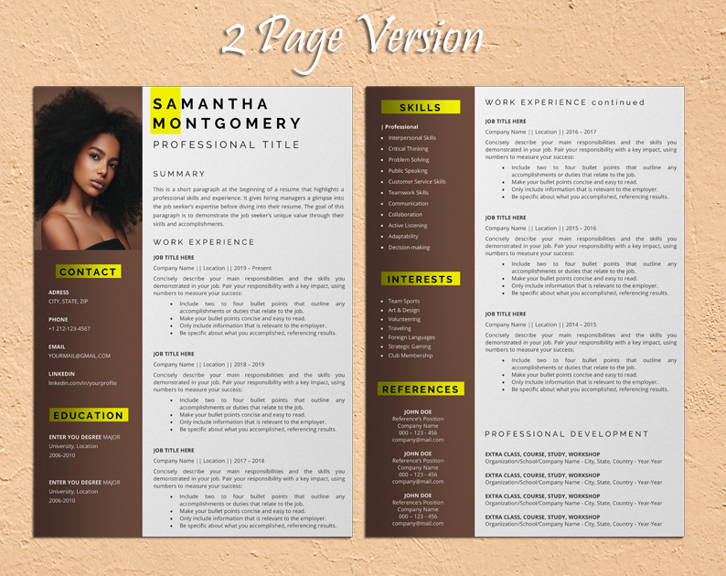 sports and fitness resume template